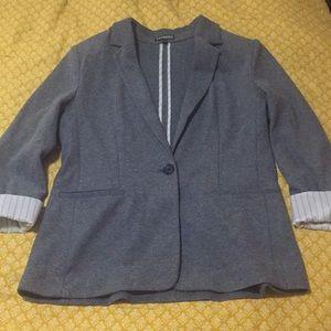Express Gray Knit Blazer